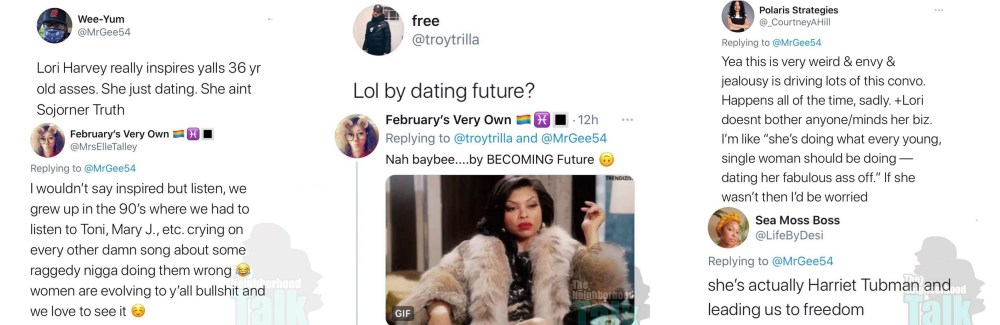 Lori Harvey dating inspiring Twitter
