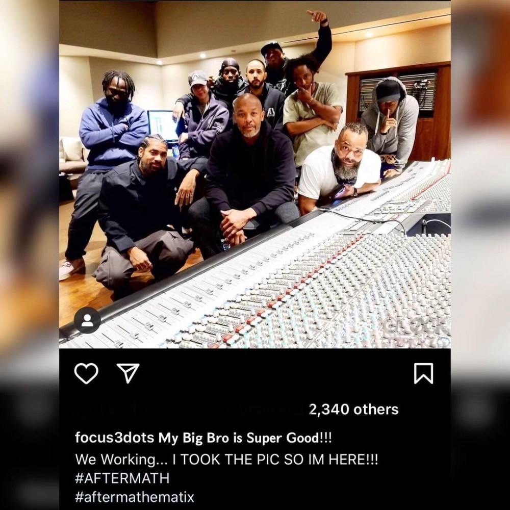 Dr. Dre back in the studio