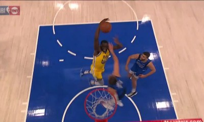 Draymond Green dunks on Luka Doncic