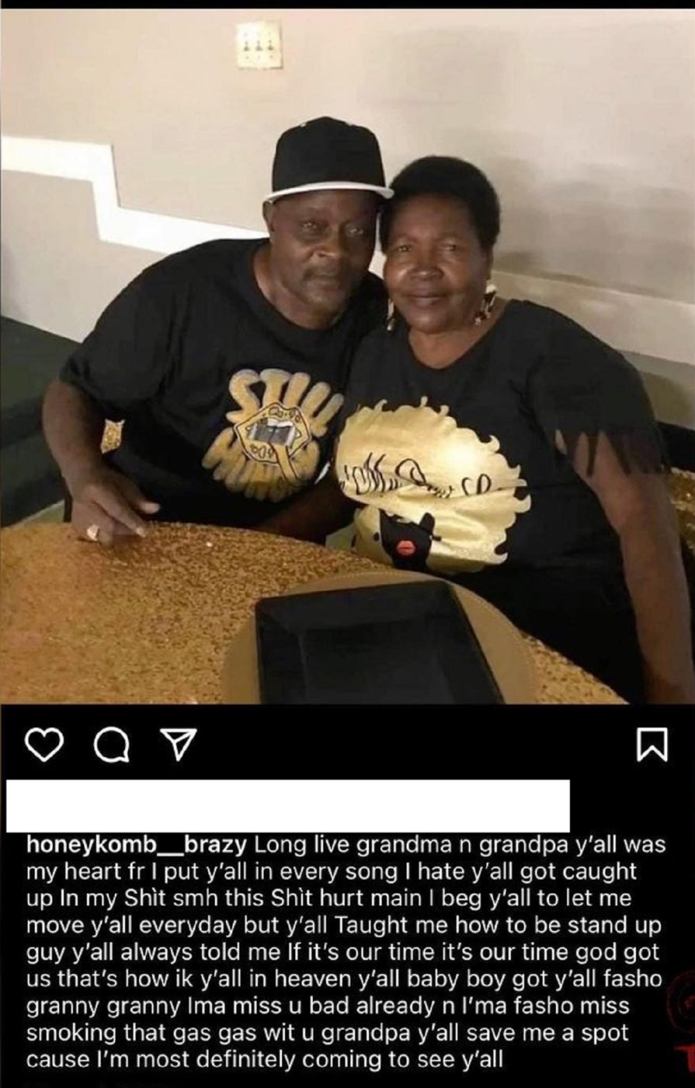 Honeykomb Brazy grandparents shot killed burned alive in home