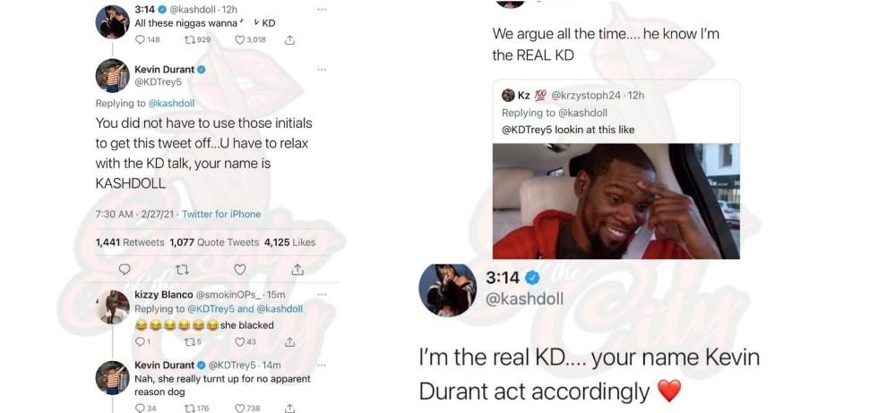 Kash Doll Kevin Durant Twitter