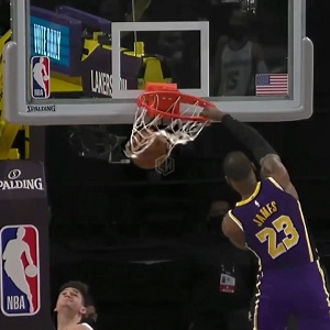 LeBron dunk Memphis Grizzlies Lakers