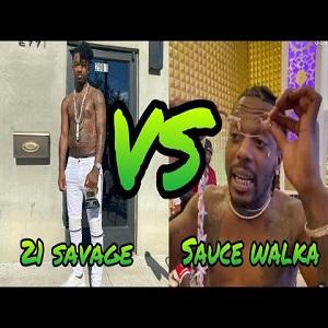 Sauce Walka 21 Savage beef cubic zirconia diamond