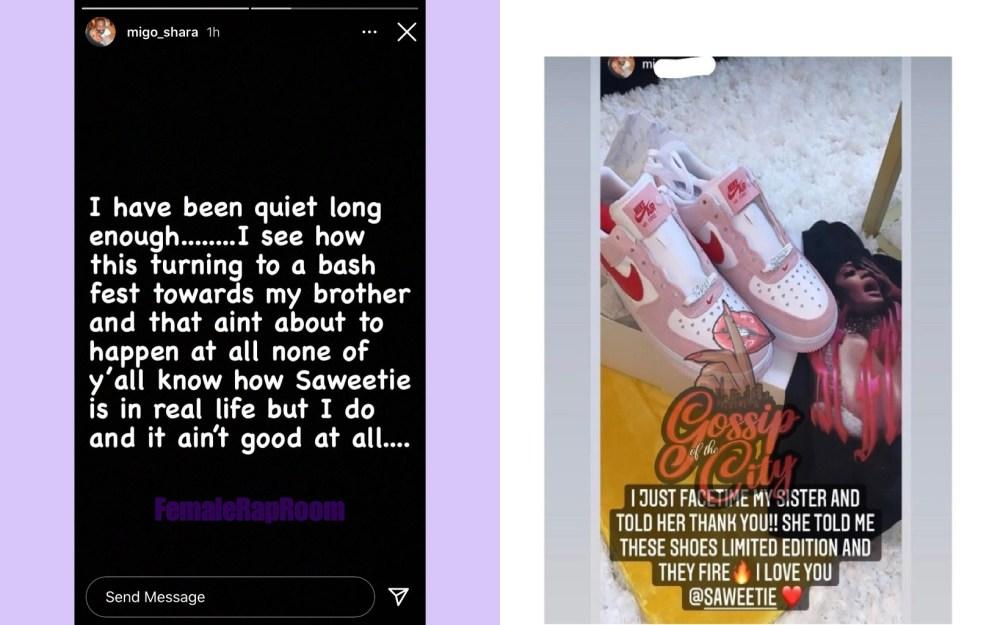Migo_shara Saweetie sister Quavo real life