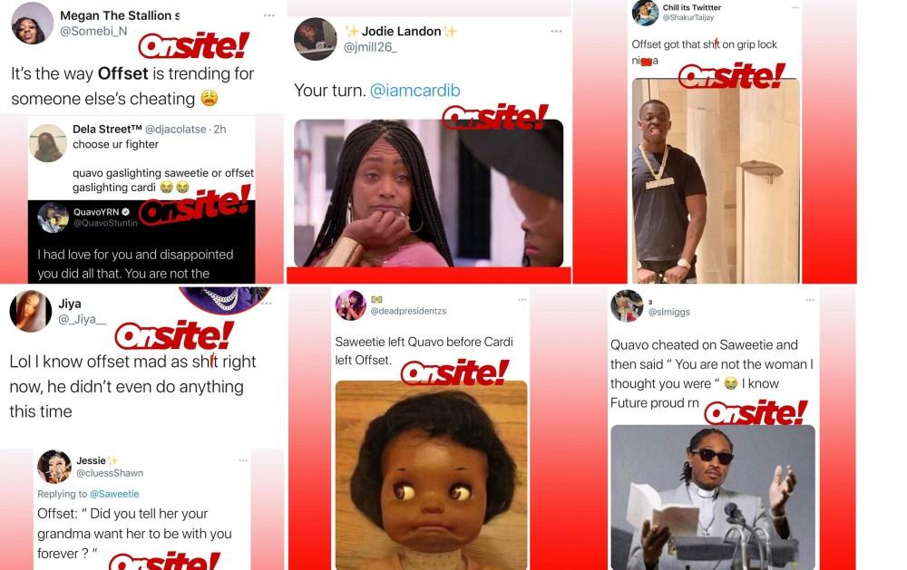 Offset blasted Twitter Cardi B leave Quavo Saweetie
