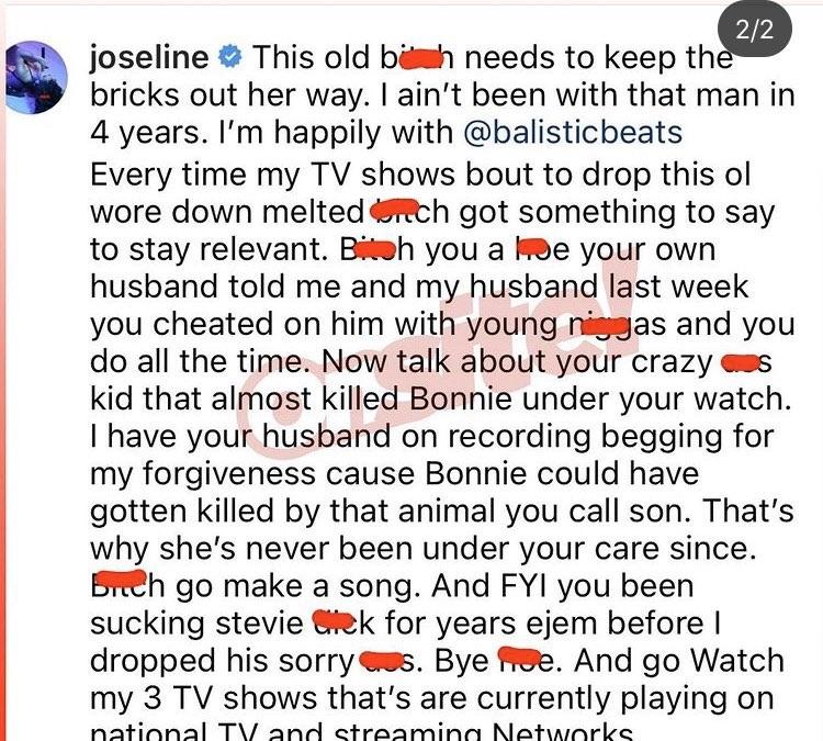Joseline Hernandez Faith Evans cheated on Stevie J son Bonnie Bella