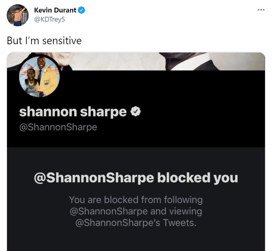 Kevin Durant Shannon Sharpe Twitter