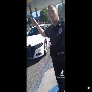 Black man followed by cop suspicious