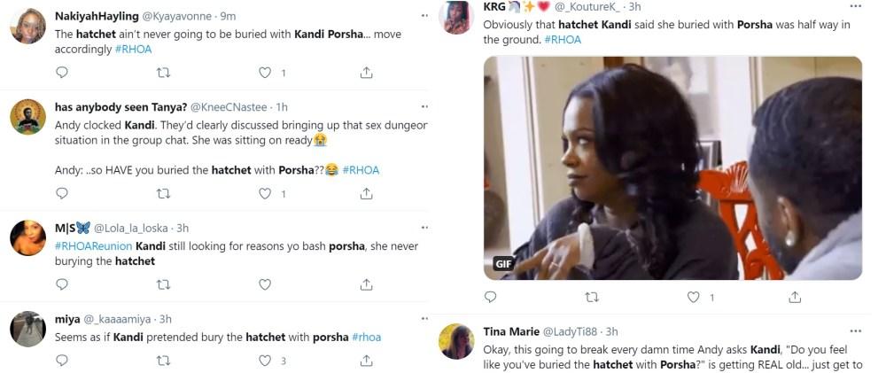 Kandi Porsha bury the hatchet RHOA
