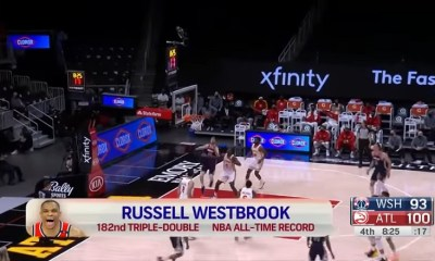 Russell Westbrook 182 triple doubles NBA history