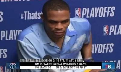 Russell Westbrook talks fan pouring popcorn on him