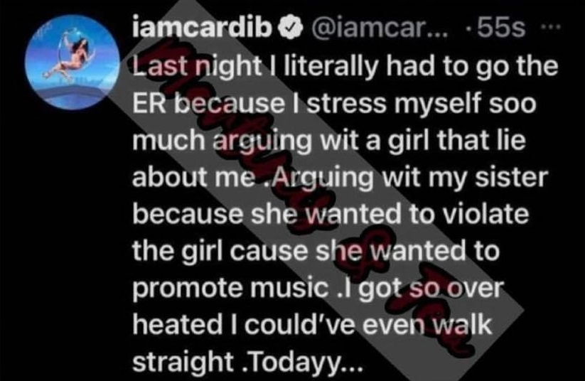Cardi B claims she went to the ER after Jessie Woo argument over Nicki Minaj