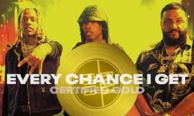 DJ Khaled single Every Chance I Get certified gold