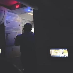 Delta airlines flight attendant tries to open airplane exit door