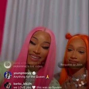 Bia talks with Nicki Minaj on IG Live