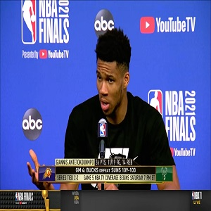 Giannis NBA Finals postgame interview Game 4