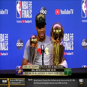 Giannis postgame interview Game 6 of 2021 NBA Finals talks winning title