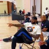 LeBron James and Master P watch their sons play basketball