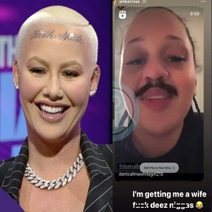 Amber Rose says she is getting a wife