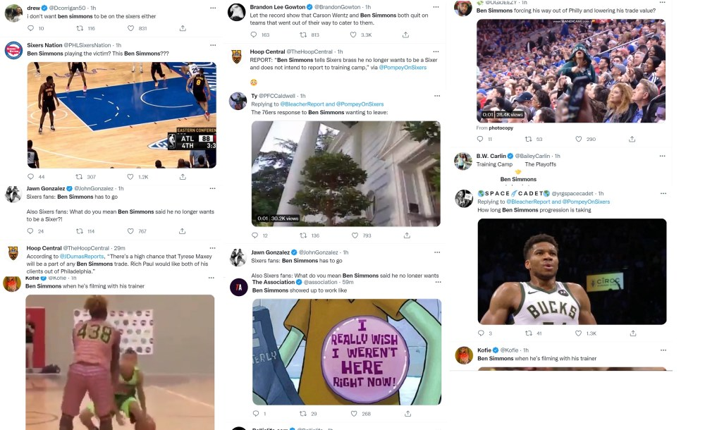 Ben Simmons blasted by Twitter after reports say he no longer wants to be a Sixer