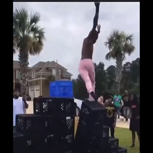 Boosie's son falls doing crate challenge and injures his knee