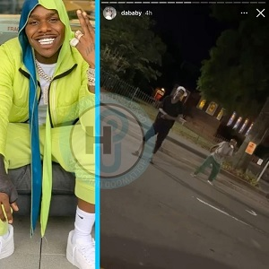 DaBaby pays homeless men $100 apiece to dance to his music in the middle of the street