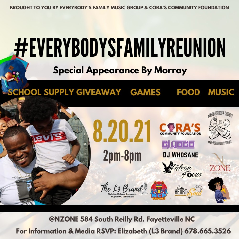Morray is hosting school supply giveaway and kickback in Fayetteville NC