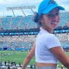 Brittany Renner shows up to Carolina Panthers game, wearing tight pants, and says hide your sons