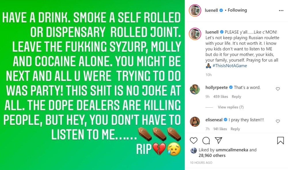 Joseline Hernandez fat shames Luenell for telling people to stop using drugs, following Michael K. Williams' death