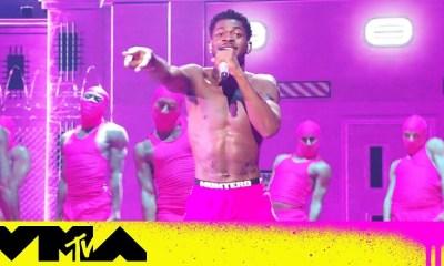 Lil Nas X performs at the 2021 VMAs
