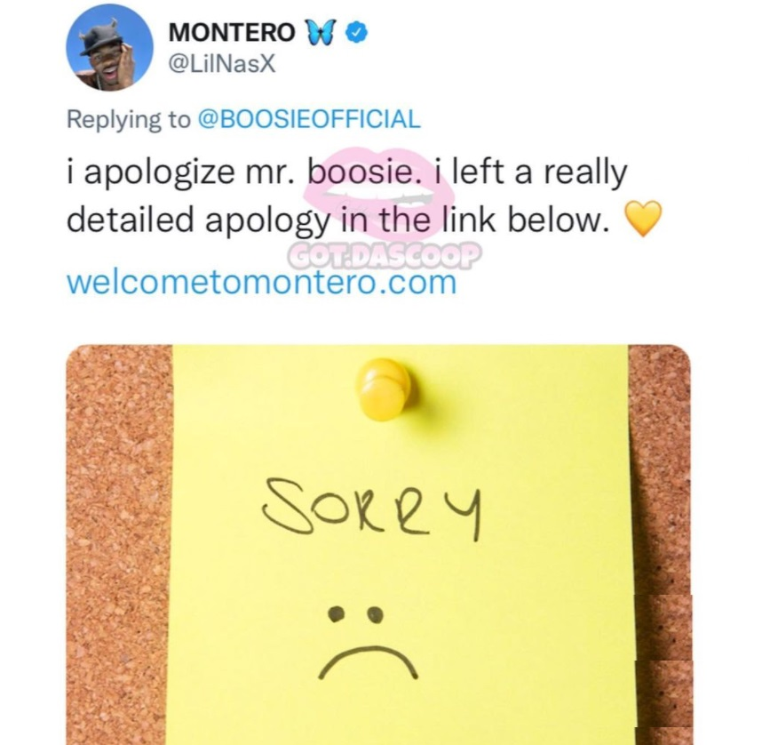Lil Nas X trolls Boosie with fake apology that's a link to his website