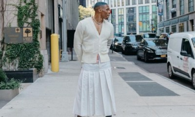 Russell Westbrook trending on Twitter for wearing skirt and fans wonder what Boosie will say about it