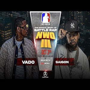 Vado and Saigon will face off in MC War pay-per-view rap battle on October 3