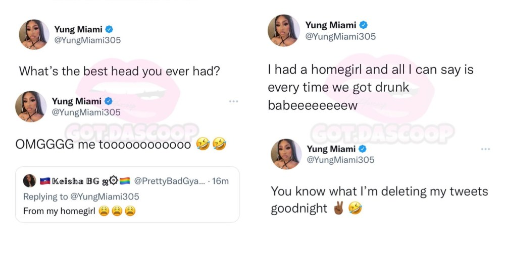 Yung Miami admits to having an affair with one of her female friends