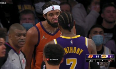 Carmelo Anthony and JaVale McGee argument