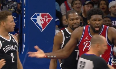Joel Embiid gets technical for elbowing Blake Griffin in chest