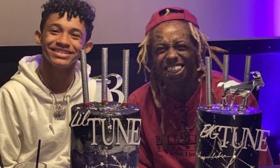 Lil Wayne and his son, Dwayne III, celebrated their birthdays together