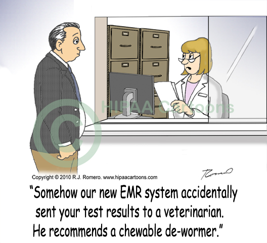 Cartoon-nurse-tells-patient-about-misdirected-fax-sent-by-emr_emr102
