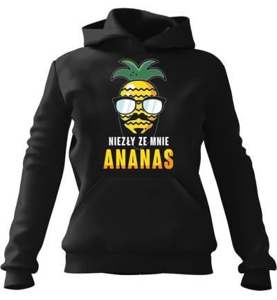 Bluza z kapturem Niezły ze mnie Ananas Czarna