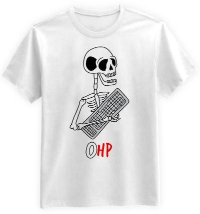 Gracz-Halloween-0HP-biala-koszulka