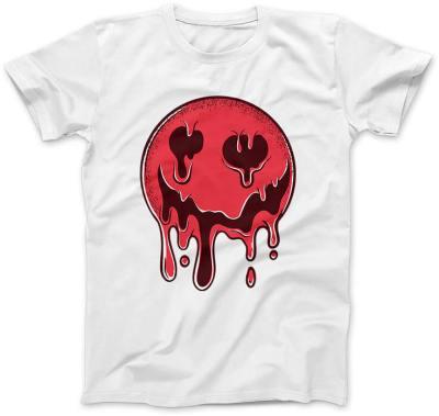 Krwista-Emotka-biala-koszulka-damska