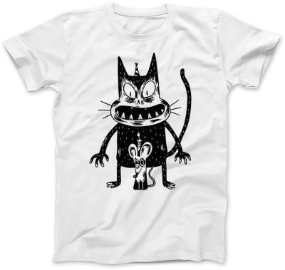 Przerażony-Kot-i-Mysz-biala-koszulka-damska
