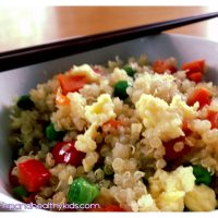 "Kid-friendly Quinoa ""Fried Rice"""