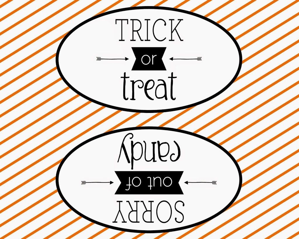 Double Sided Halloween Sign