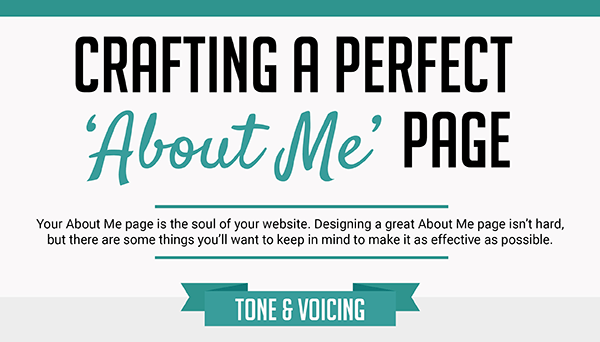 about me page infographic cover