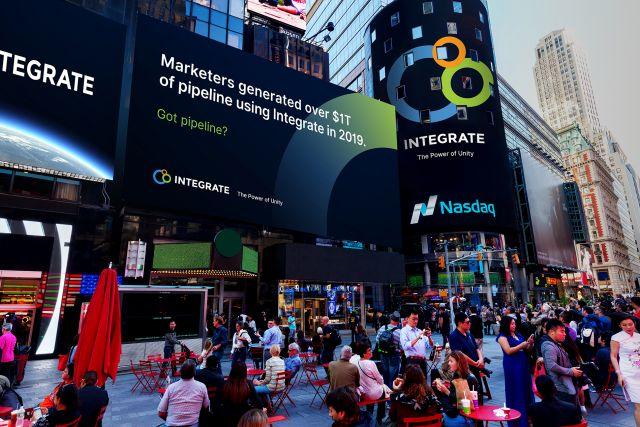 big screen at Times Square, Manhattan, NYC
