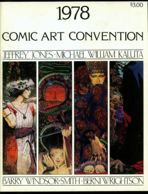 Browse Products in Comic Collectibles   Fan Clubs   Zines   HipComic 1978 Comic Art Convention Program  Jeff Jones  Kaluta  Wrightson FN VF