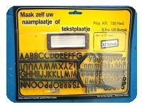 1 a  vintage naambordje letterbord 1