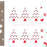 Free Printable inpakpapier voor kerst