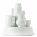 witte vaas servies